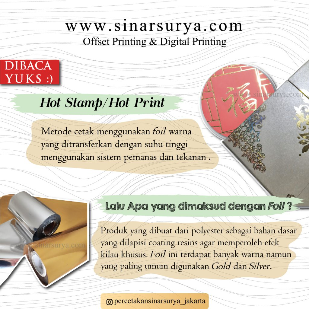 hot print, hot stamp, foil, poly, percetakan jakarta, offset printing jakrta, percetakan offset jakarta, digital printing jakarta, cetak offset jakarta, cetak offset